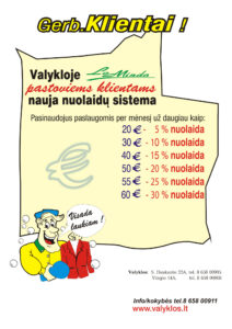 Lominda nuolaidų sistema